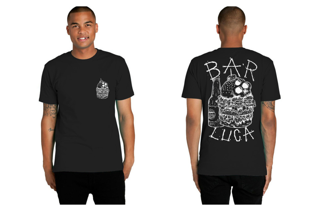 Bar Luca Tee front and back